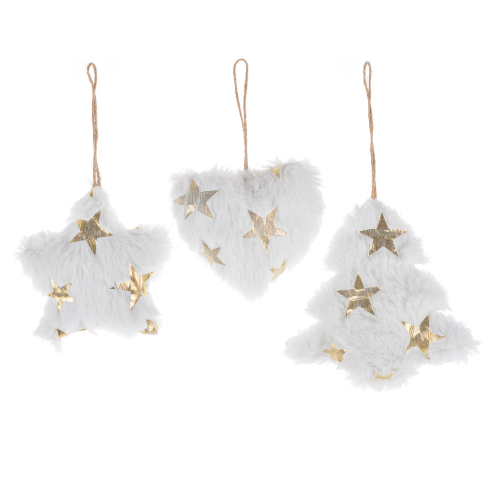 white color Christmas decoration star heart tree hanging