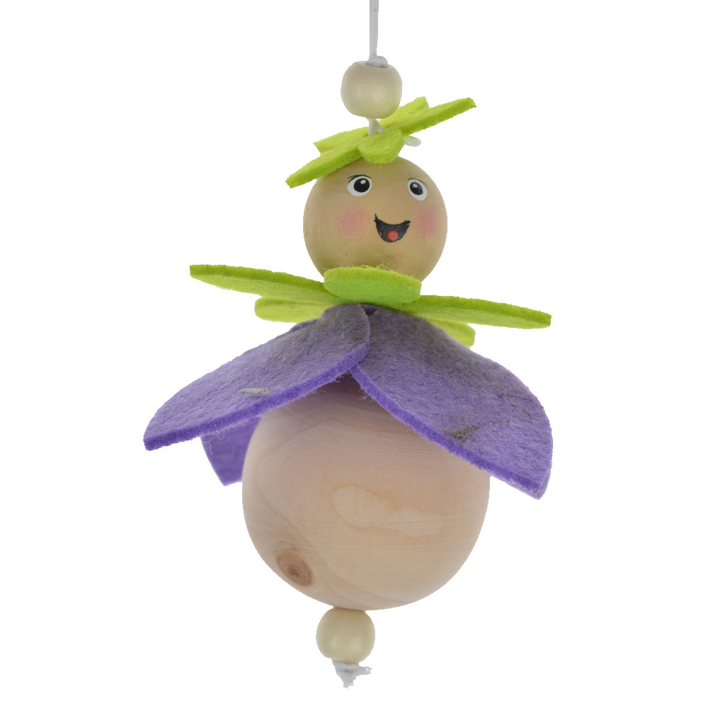 Home Ornament Creative Decoration Pendant Cute Wooden Kids Doll Hanger