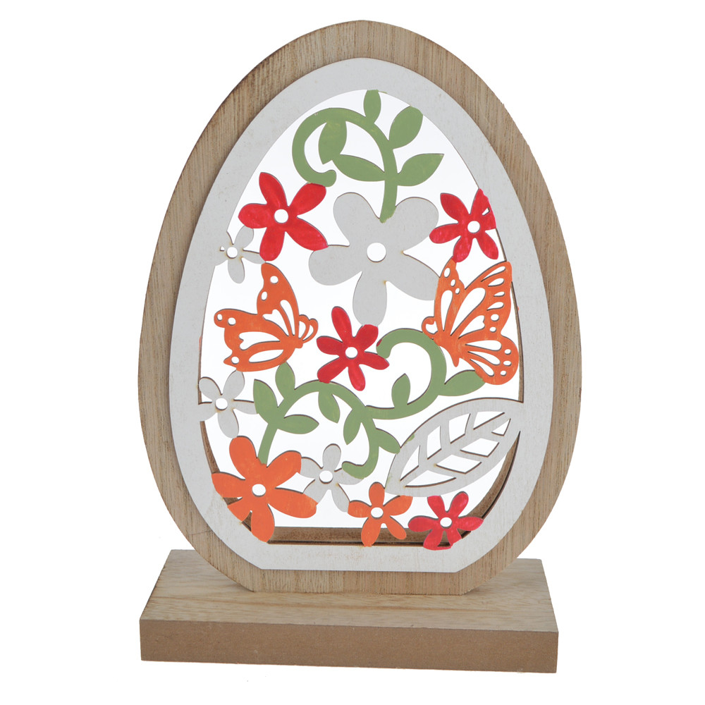 wooden round shape butterfly / flower  hoolow out window decoration
