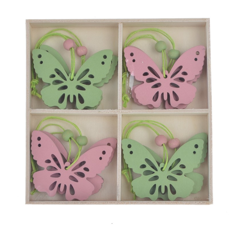 New design wooden easter butterfly hanging