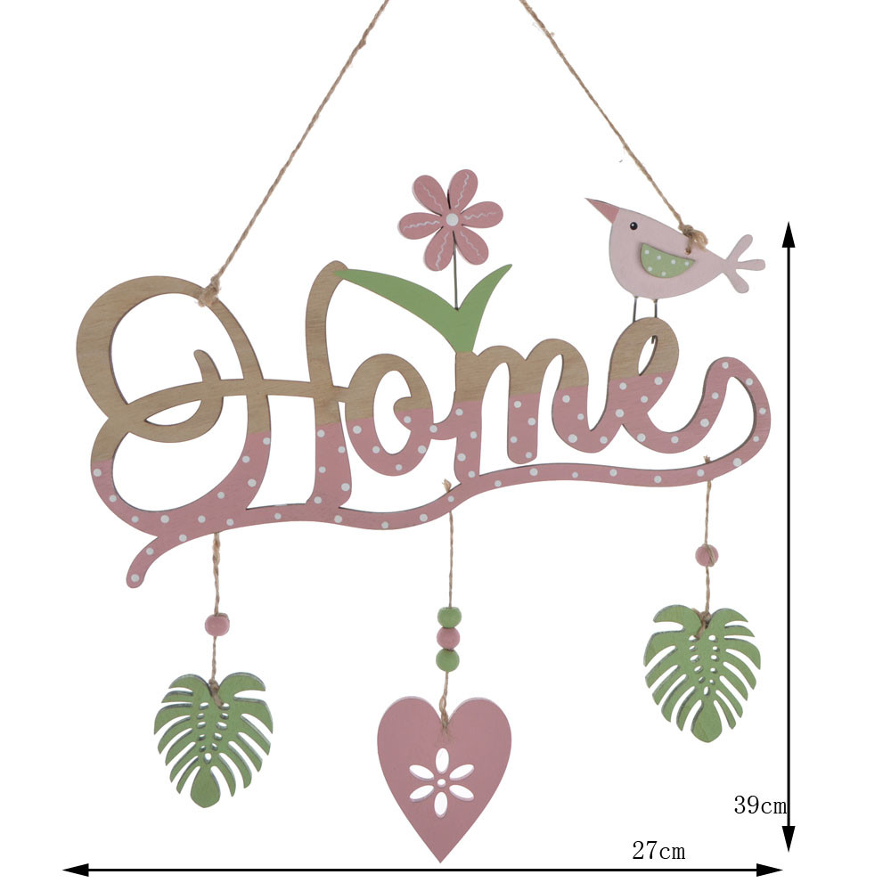 Home decoration Easter ornament wooden word plate