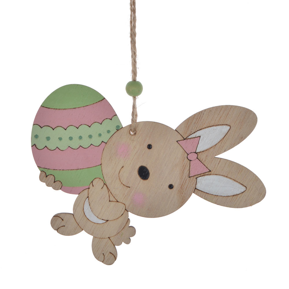 home decoration for sale children favorite gift wooden rabbit carrot design