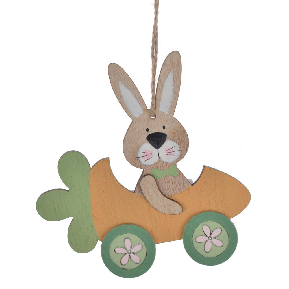 Easter spring festival decoration wooden rabbit carrot