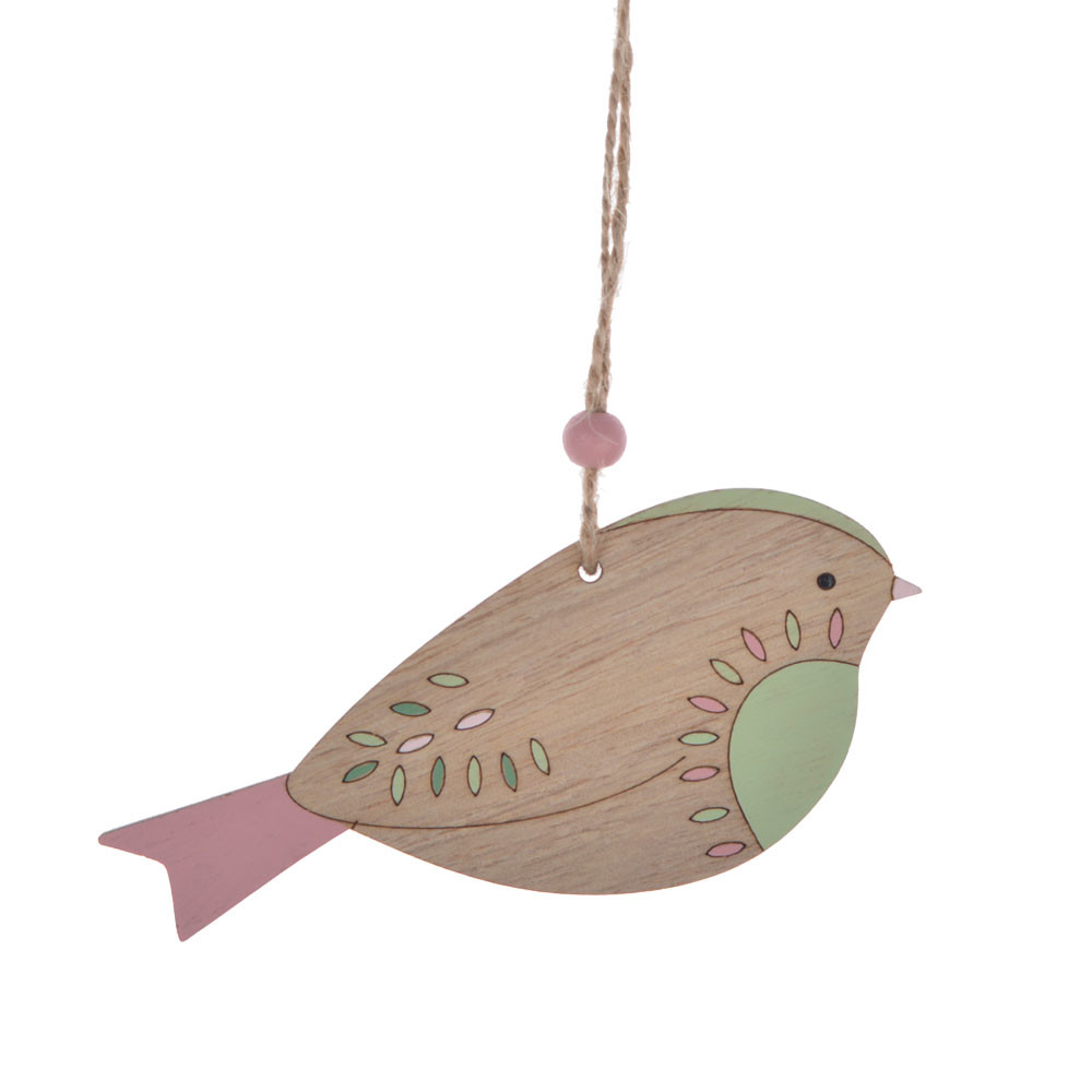 hanging decoration laser cut wood craft birds design