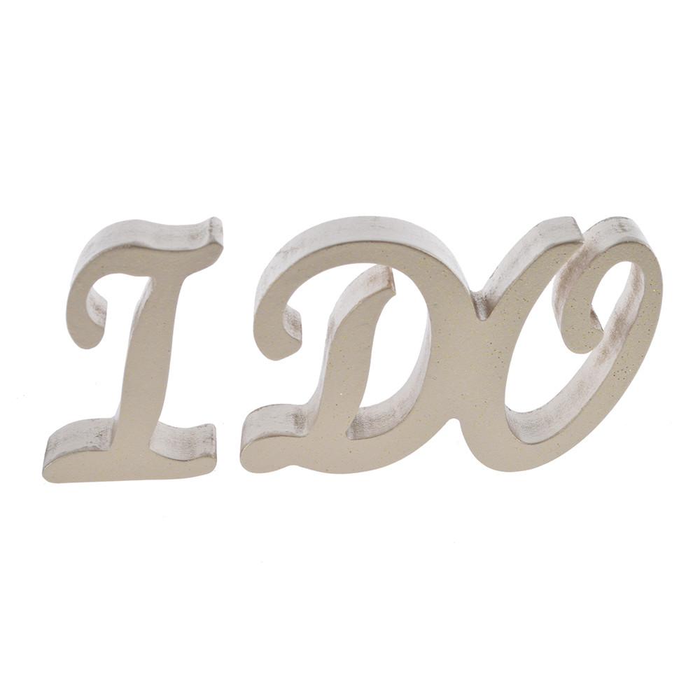 Wooden logo letters 3D GOLD SILVER color letter decoration