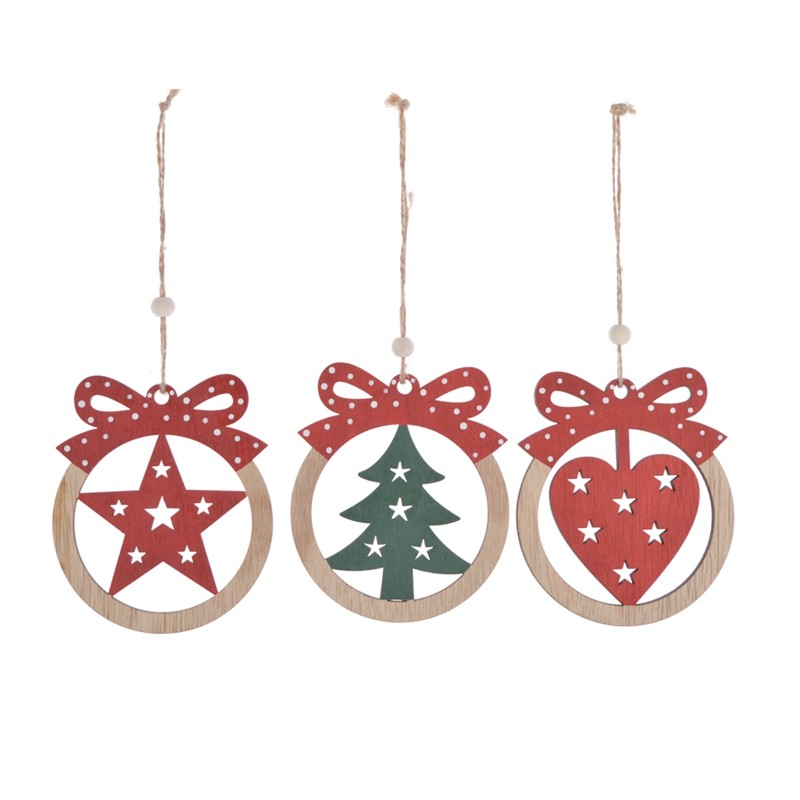 color printing wooden christmas tree hanging
