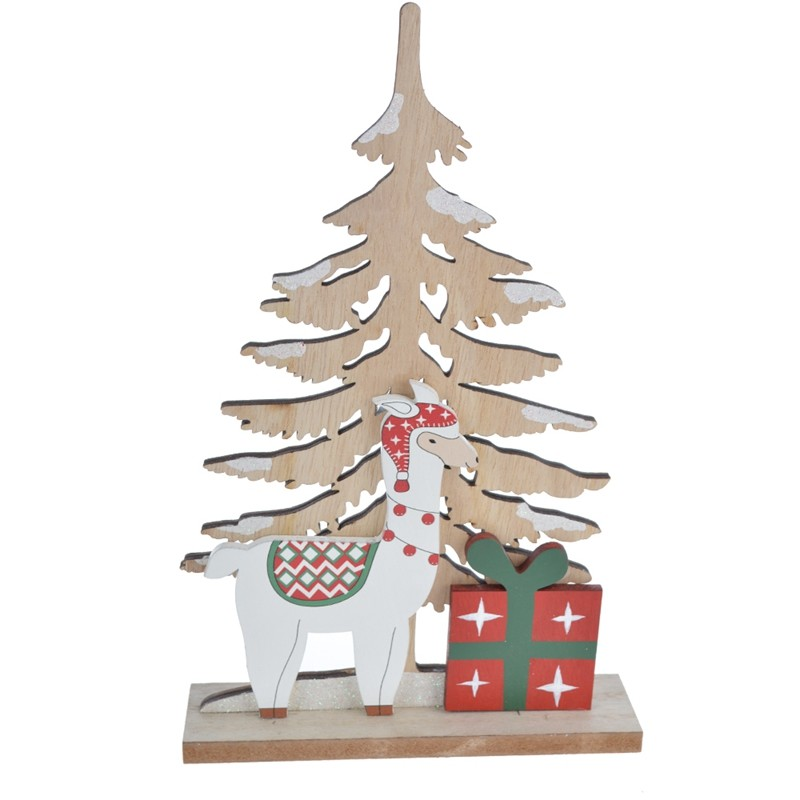 Christmas reindeer wooden tree table decorations