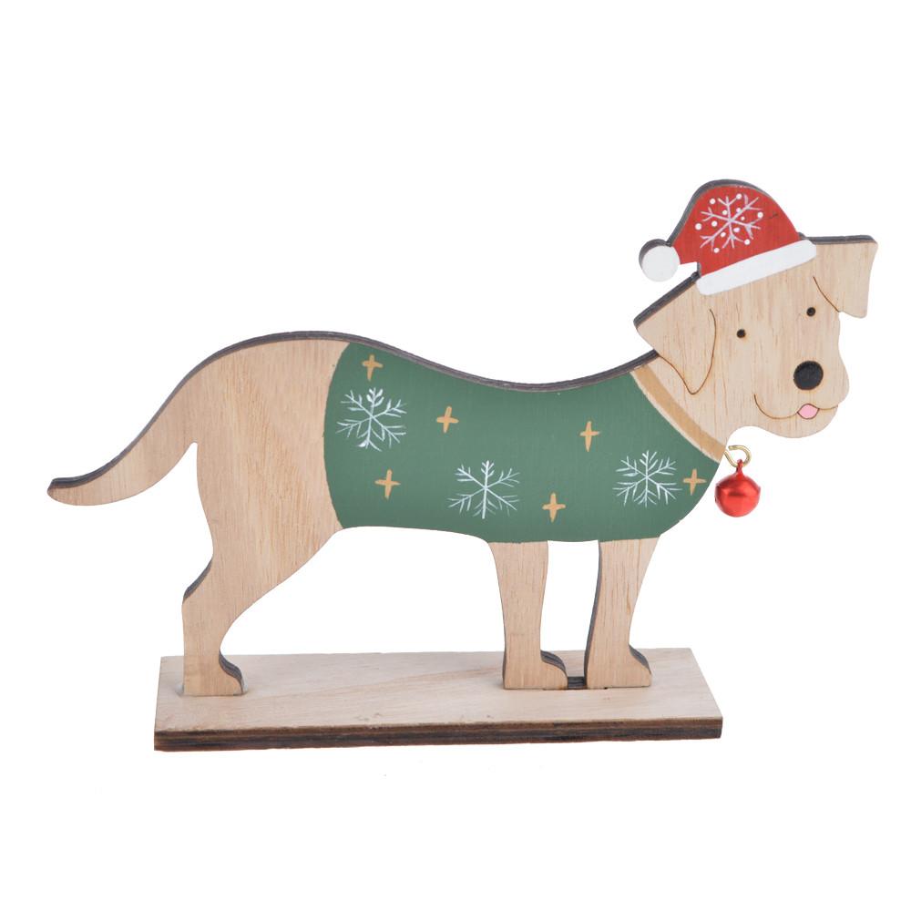 standing wooden animal dog home decor