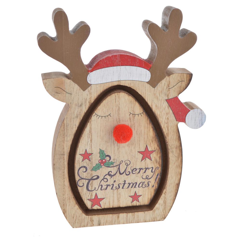merry christmas custom wooden deer ornament decorations