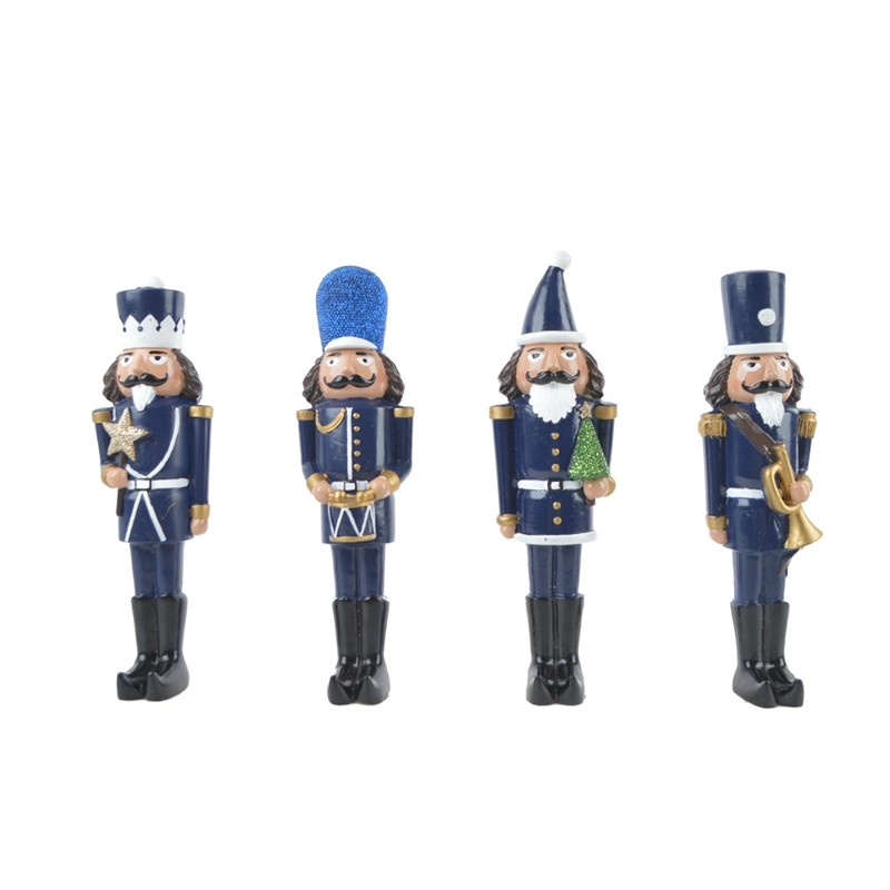 Factory custom handmade resin Nutcracker soldier statue for christmas decoration
