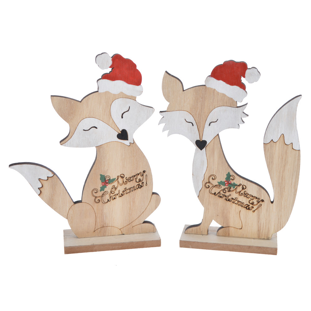 Forest Animal Centerpiece for Woodland Theme wooden cute fox tabletop decor
