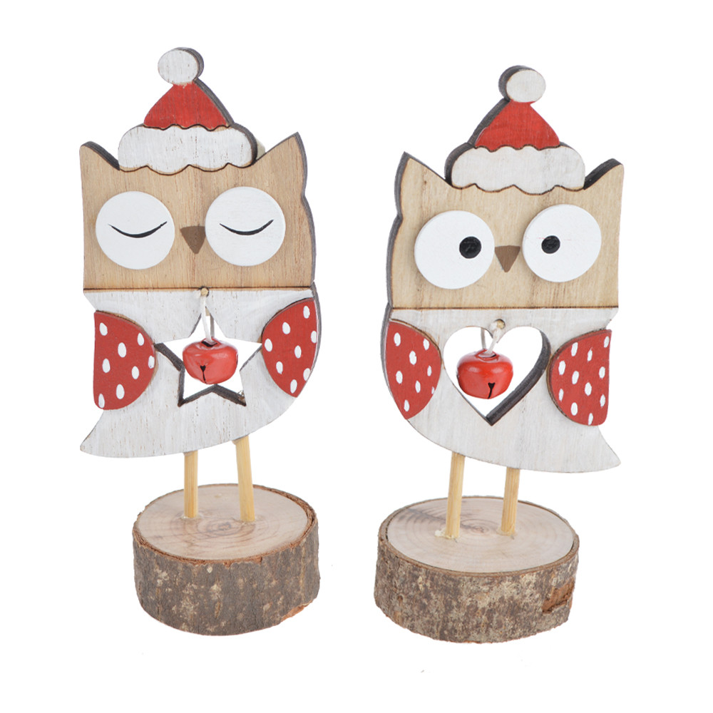 2020 new style handmade baby owl painted handcrafted figurine art home christmas decoration