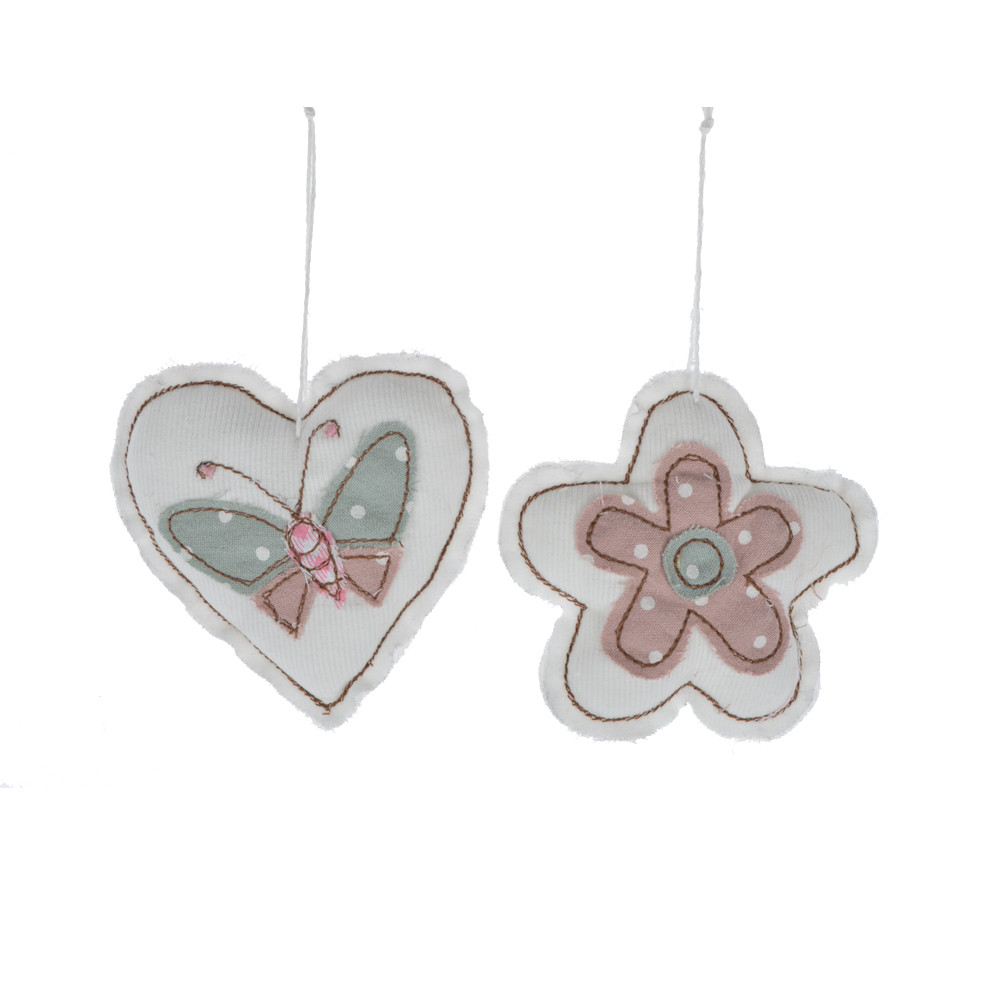 cute design fabric knit heart love / flower hanging kids favorite gifts easter pendant