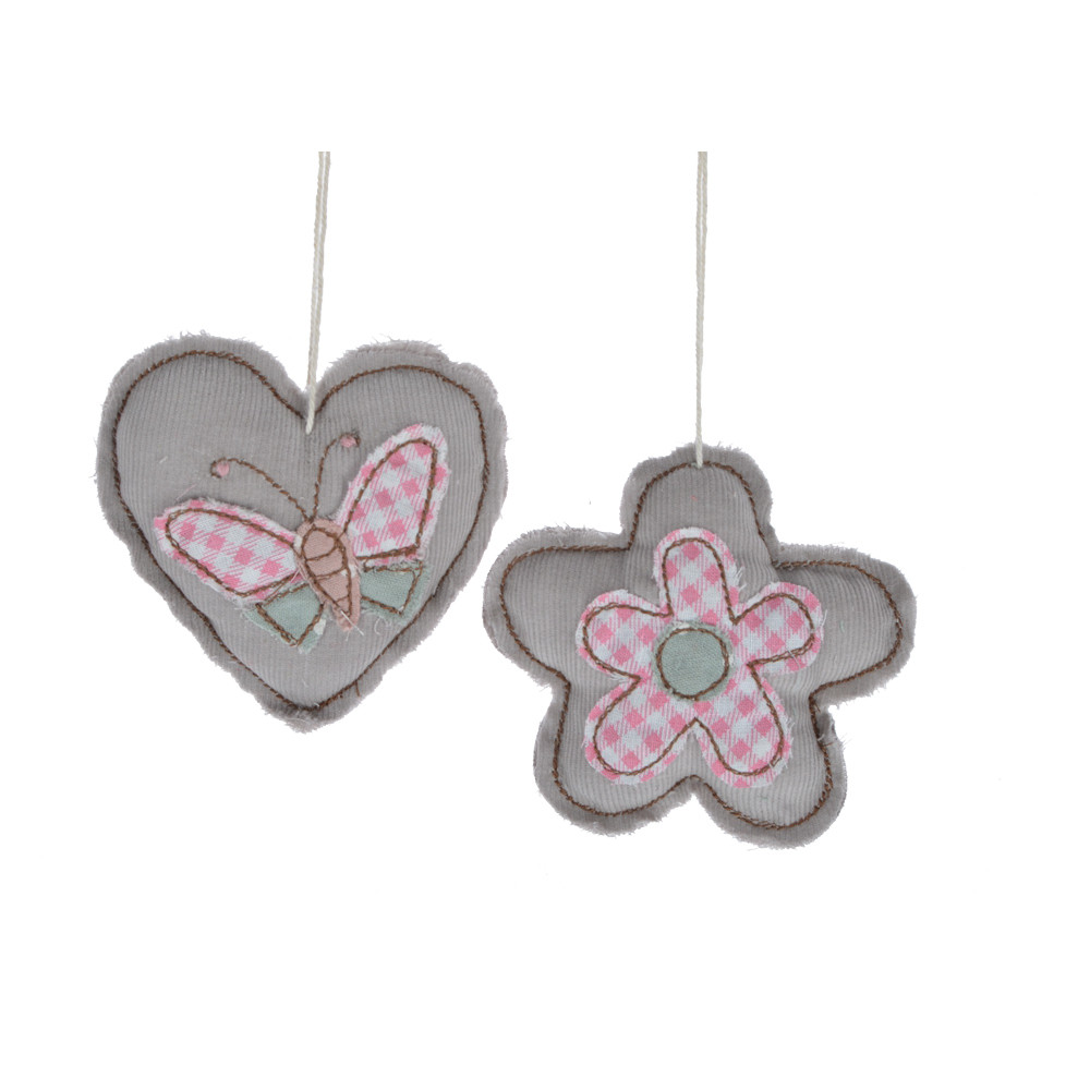 for wedding decoration spring ornament handicrafts fabric knit heart/flower shape