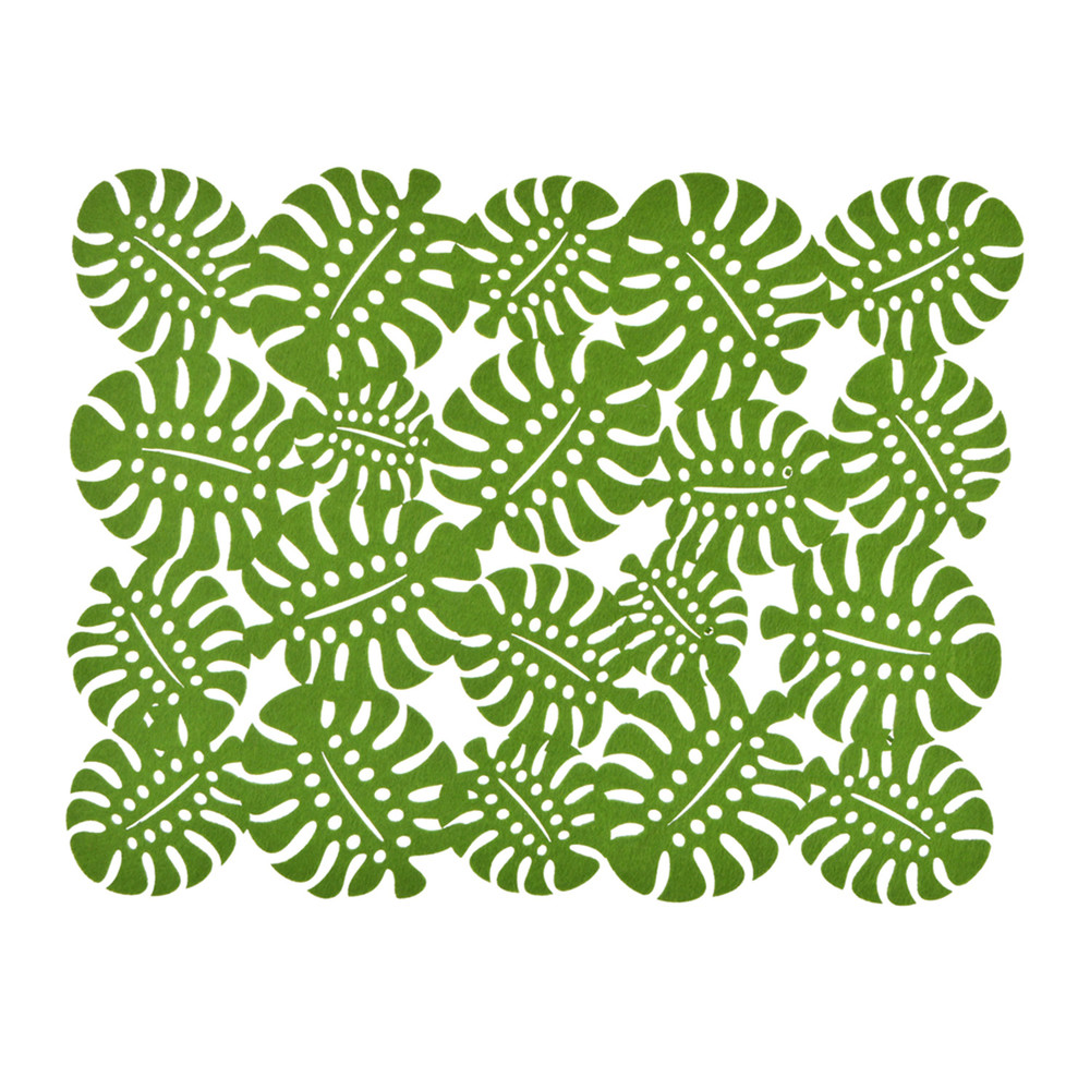 felt leaves pattern placemat and coaster table mat Wedding decor ideas