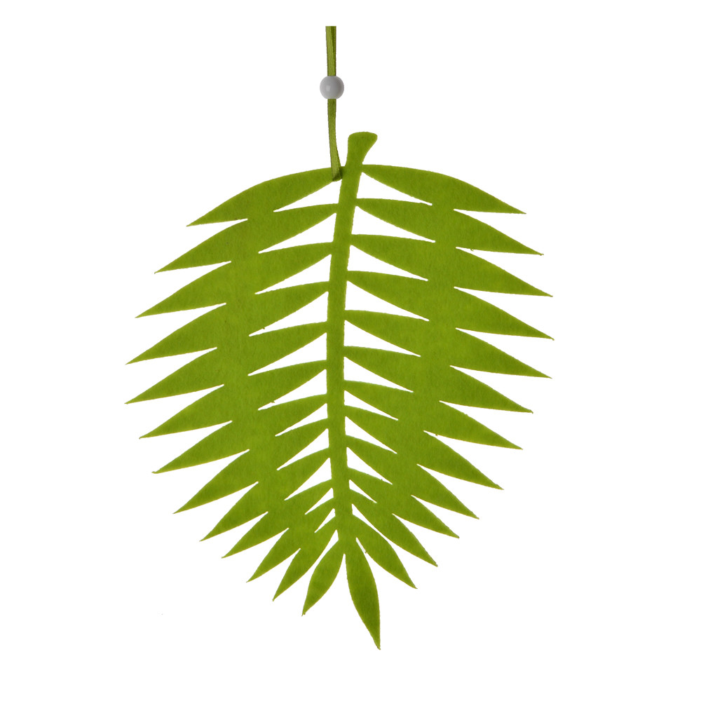 wall hanger felt green artificial leaf pattern laser cut party hanging ornament