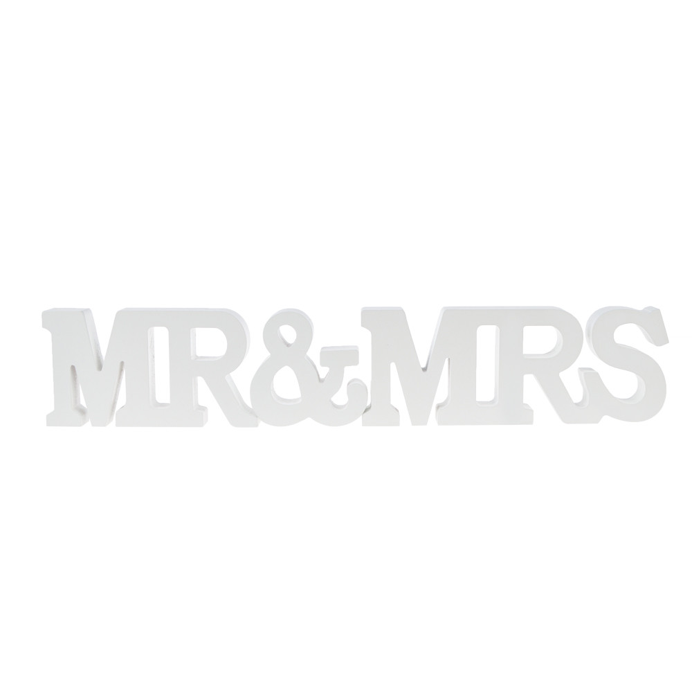 Wooden Mr&Mrs sign pattern laser cut wedding decoration favorite gifts