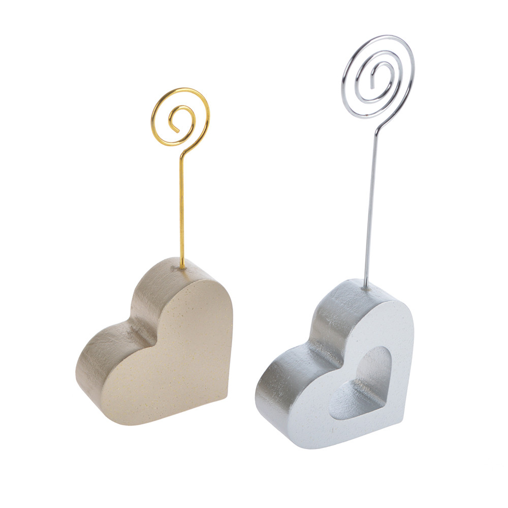 Wooden heart love note/card/paper pegs holder wedding decoration party tabletop embellish