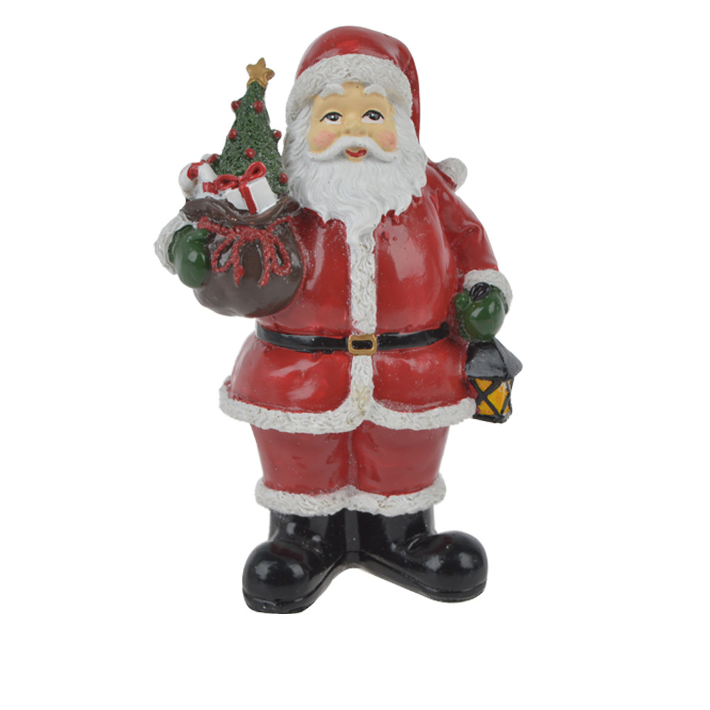 Handmade Resin standing santa claus figurines Christmas decoration