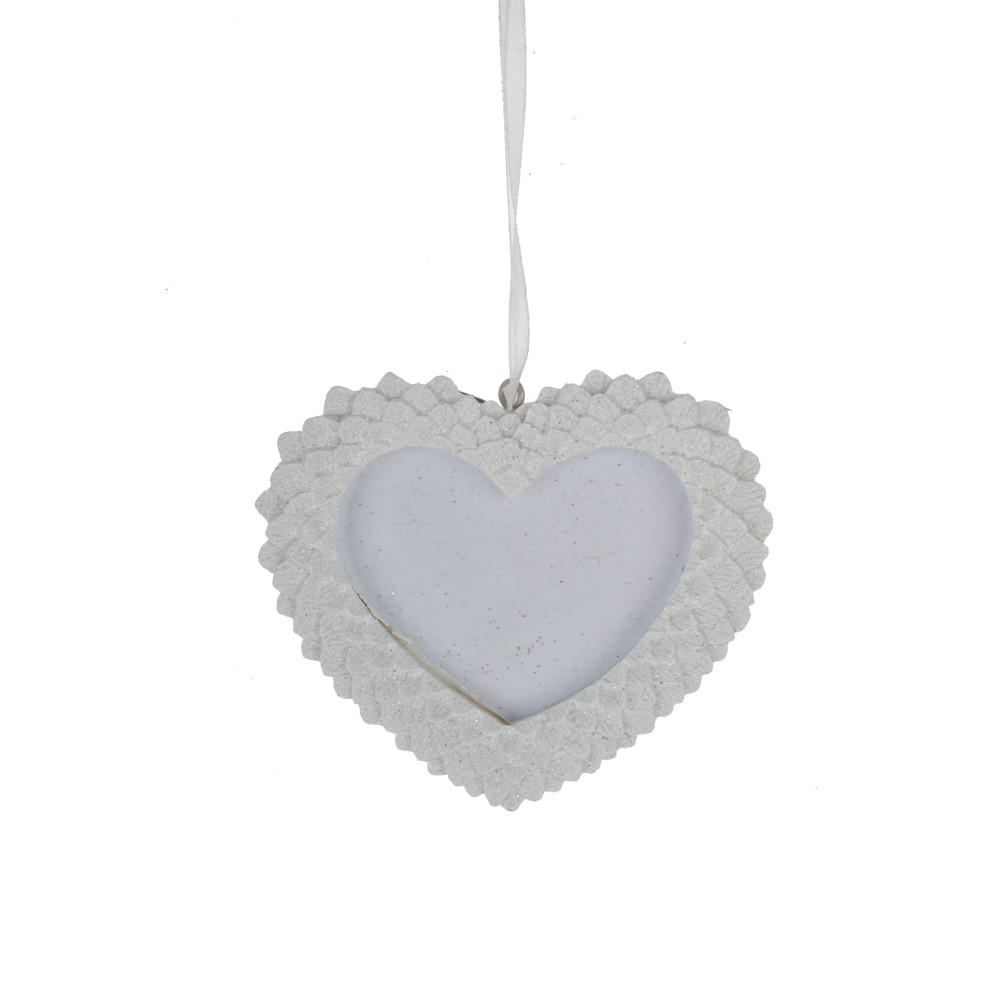 resin heart love shaped picture frame hanger home wall ornament