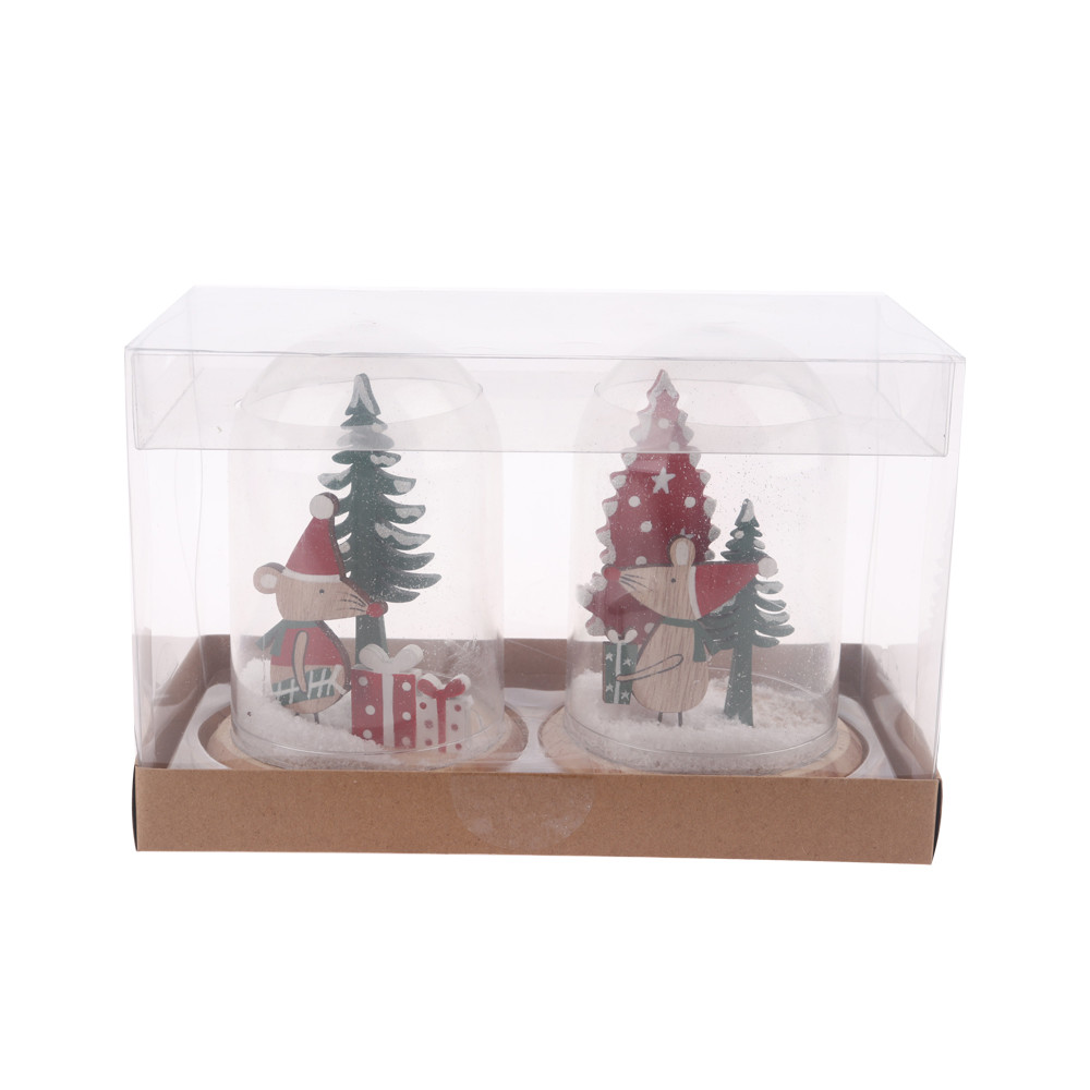 2020 new Wood plastic Christmas decorations Children's Christmas gifts, desktop decoration party holiday decoration