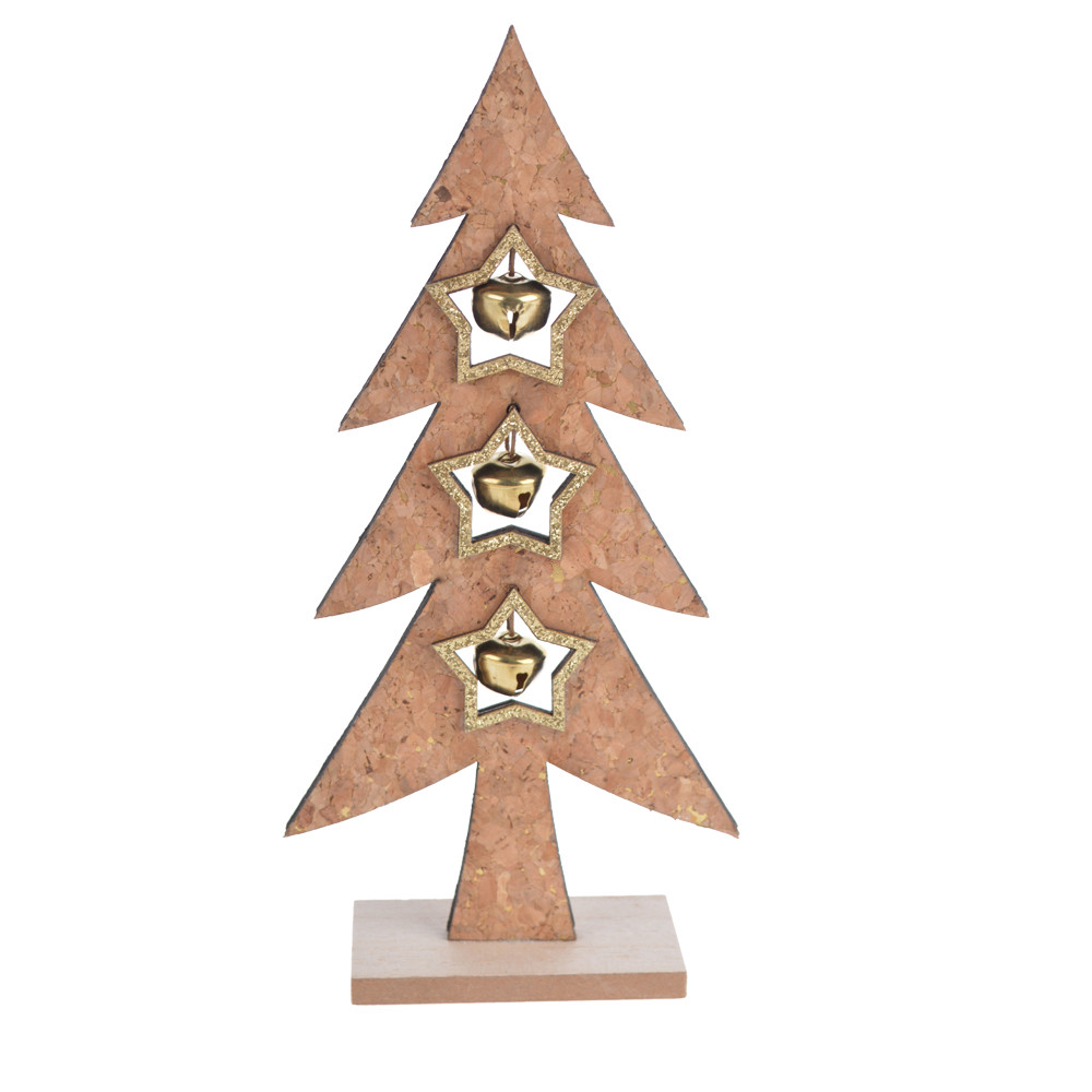 House Table Decor Wooden Christmas Tree Display Decorative