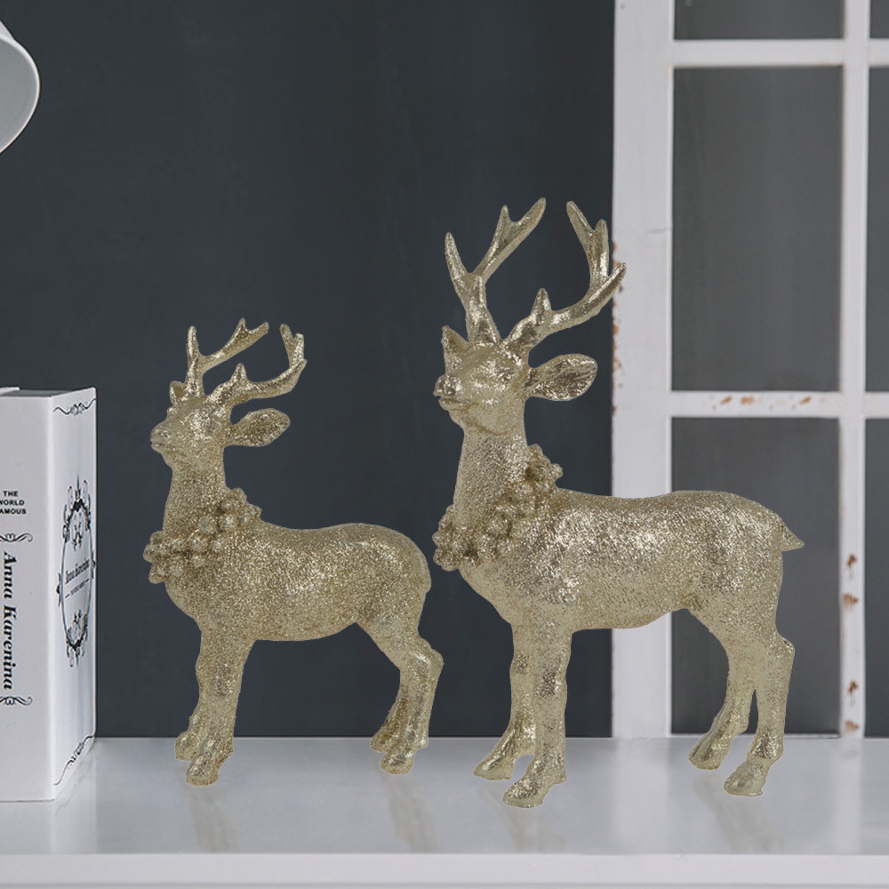 Supplies resin Christmas decoration Party DIY decorations champagne station deer statues table ornaments