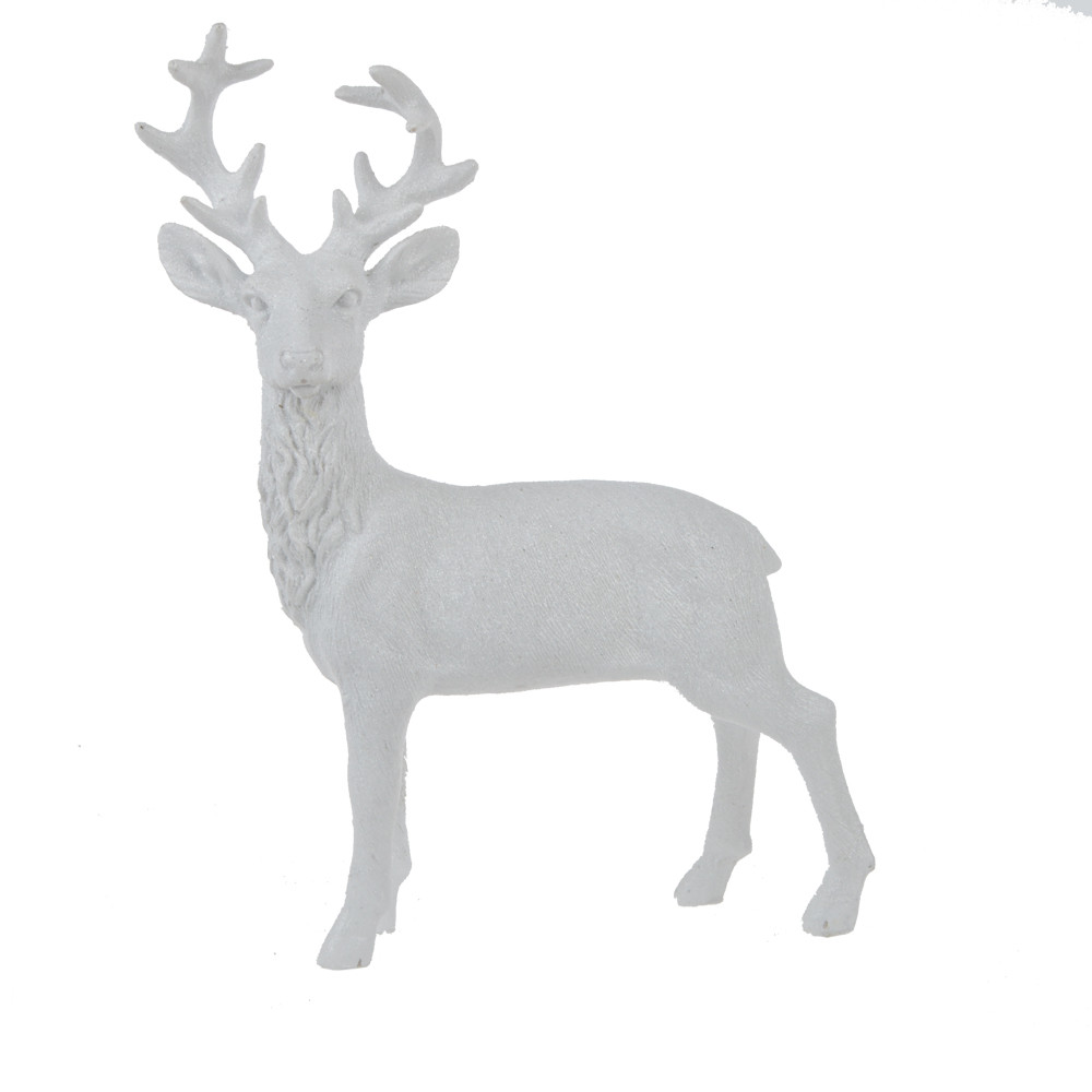 Factory supply resin ornament white champagne station deer decor office table decor home decorations