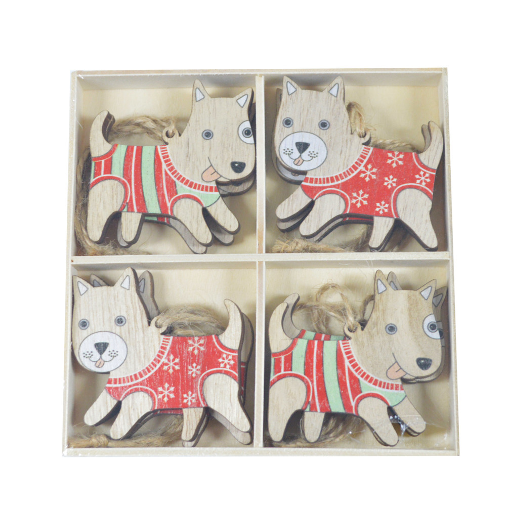 Personalized Wooden Color Dog Hanger Wood Tags Ornaments