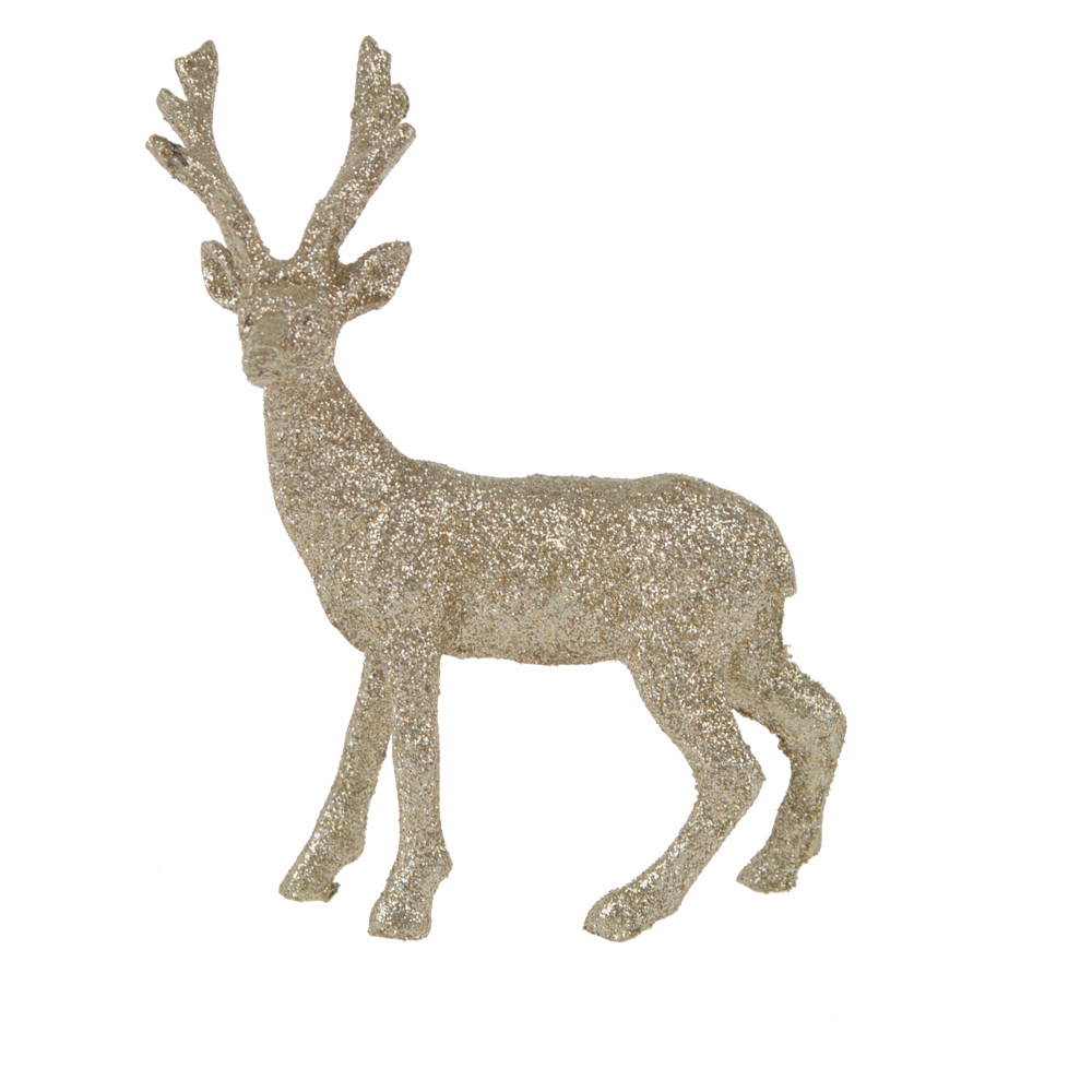 Factory supplies silver deer resin decoration champagne station deer embellishment Christmas tabletop ornament