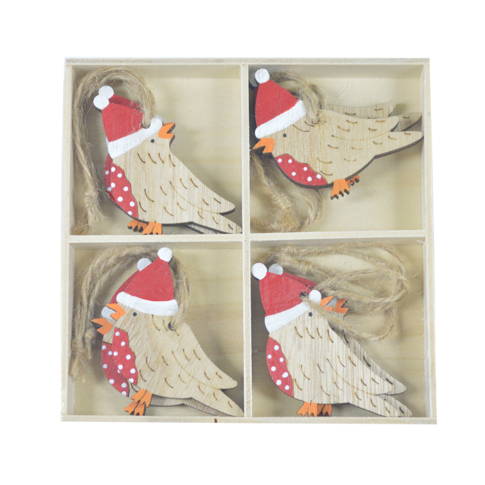 Wooden birds with hat hanger Christmas Present Wrap  Christmas Gift Wrapping Christmas Presents Christmas Packages supplier