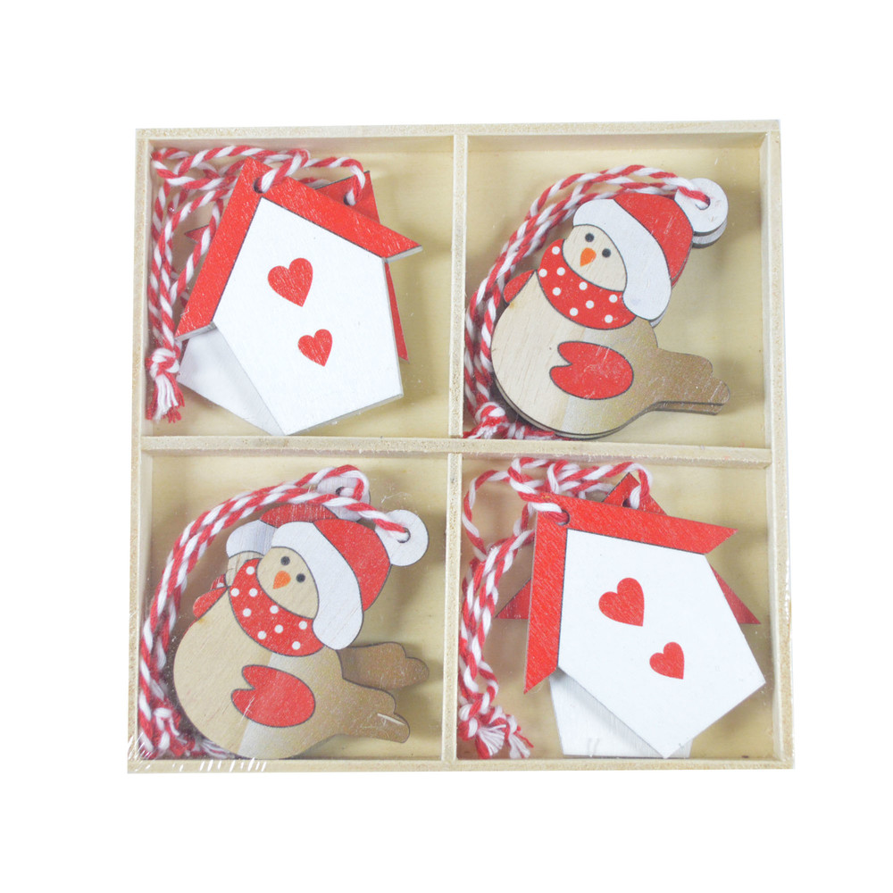 Wooden Gift Wrapping Ideas for Christmas How to Wrap Gifts for a Pro Look Wood cute  birds house shape home hanger wall hanging festival pendant