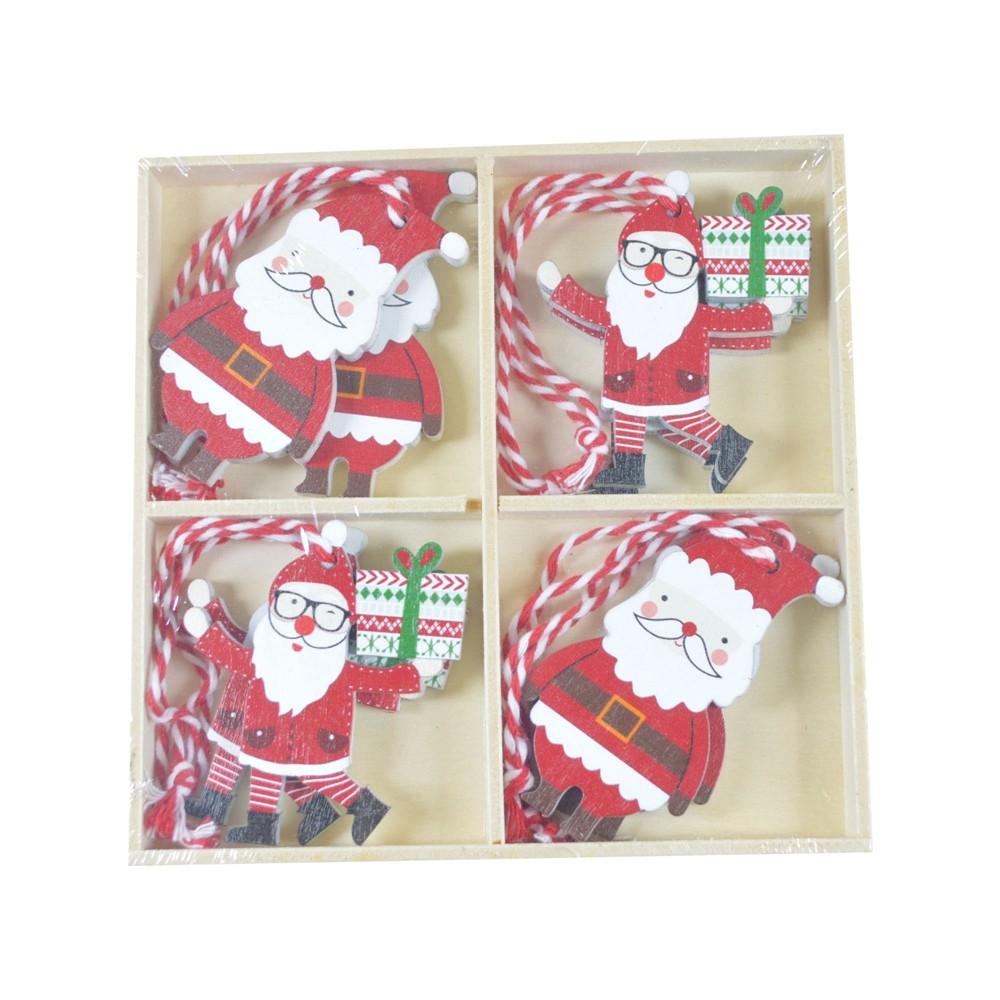 DIY factory Christmas tree Ornaments wooden Santa Christmas decoration window Ornaments kids gifts decoration