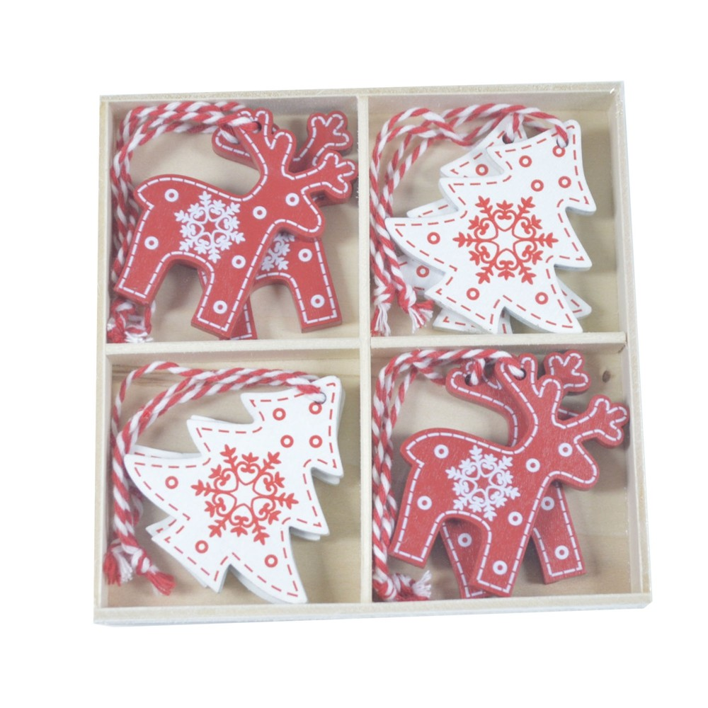 Supplies exquisite Handmade crafts Hang Tags Pendant Deer tree wooden ornament Christmas Hanging Decoration
