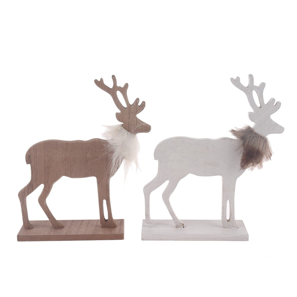 Holiday decor stag ornaments Christmas Reindeer decoration Wooden tabletop decor Home ornament DIY decoration