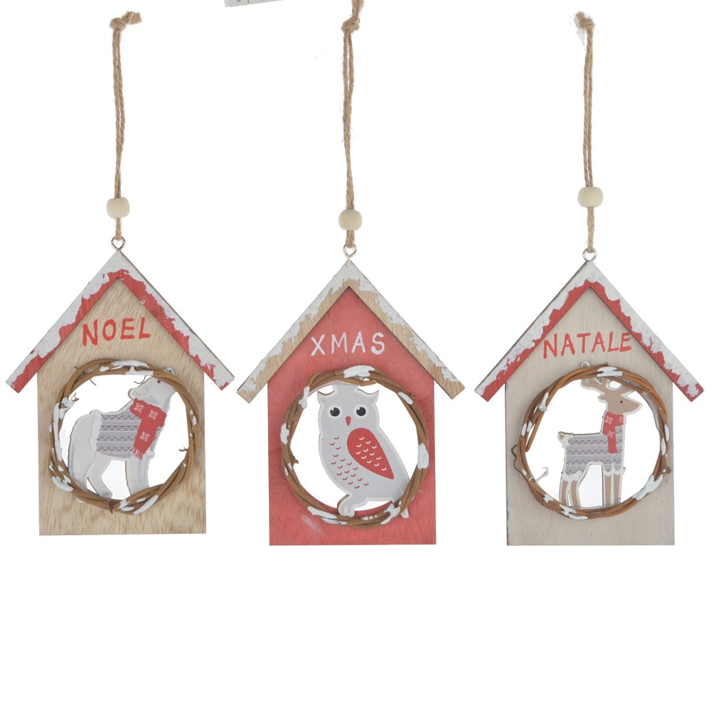 Supplies House shape decoration Holle out wood ornaments wooden product wood carved home wall hanging pendant