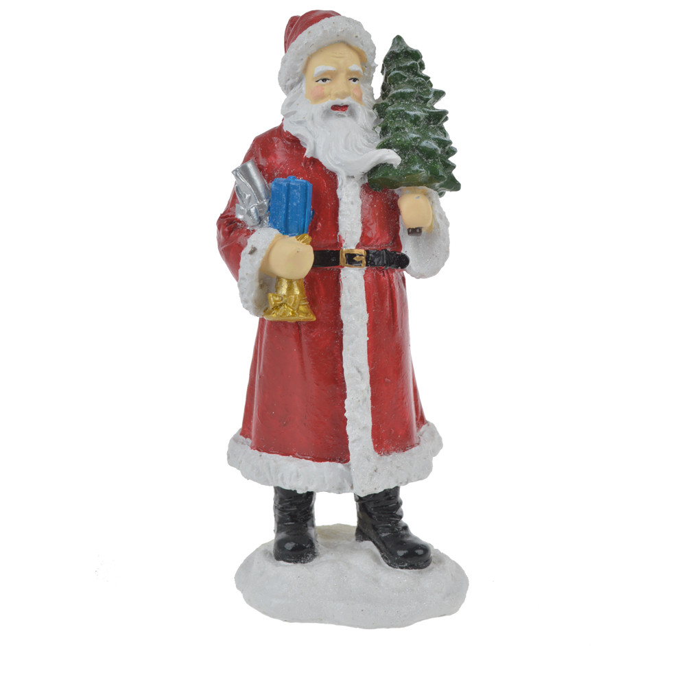 Factory Anniversary santa with tree figurine festival gift craft