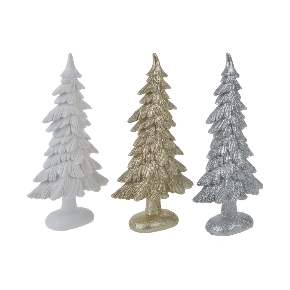 factory resin glitter christmas tree standing holiday figurines home crafts decor