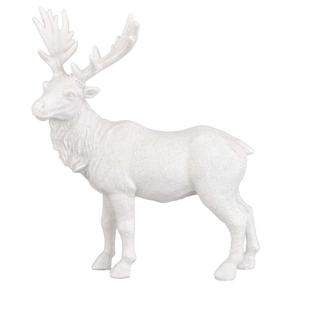 factory home deoration ornaments polyresin vintage glitter deer standing figurines