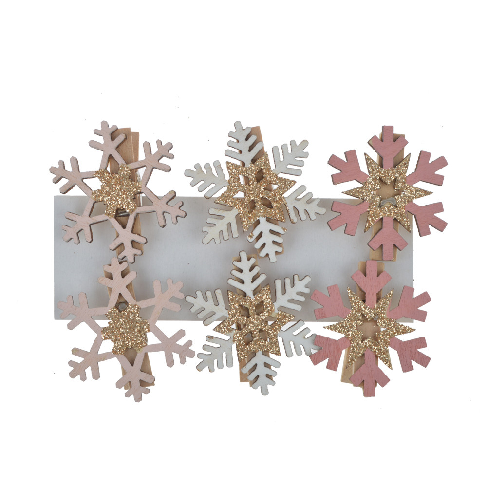 christmas card holder kits pegs snowflake shape paper clips Xmas hanging decoration gift package decoration