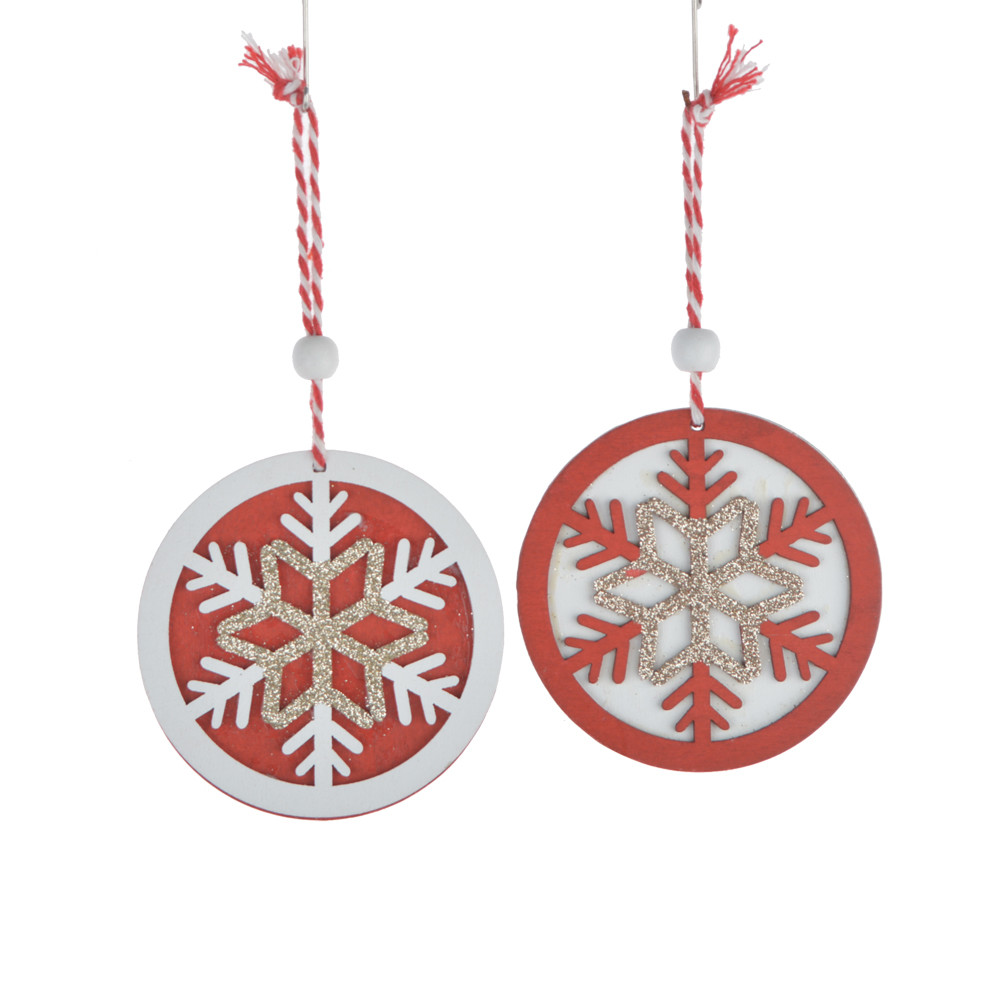 wholesales supplier painted wooden hollow tags wood christmas tree pendant drop hanging ornaments