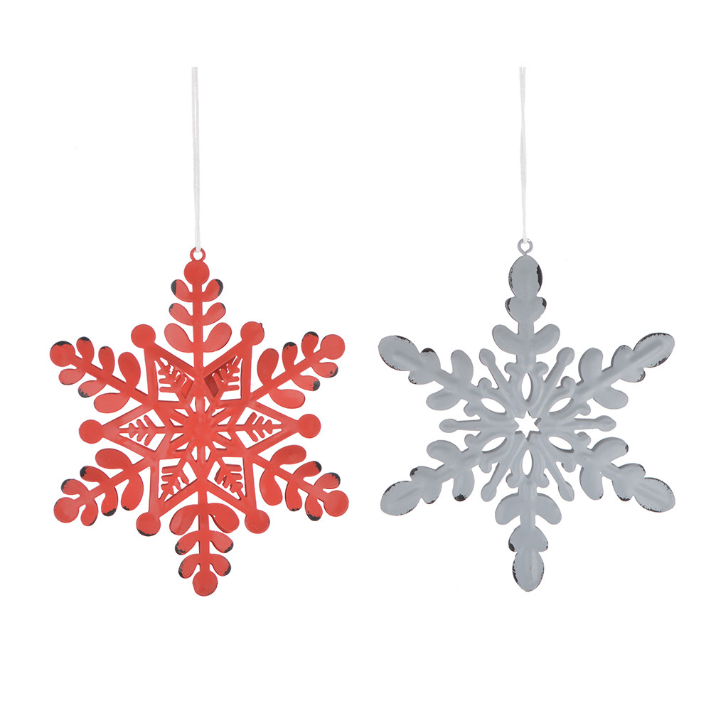 Holiday supply 12cm snowflake metal decoration Christmas winter ornament Door Hanging Front Door Decor,snow flake