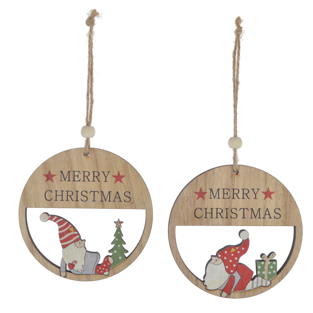 Factory New product Santa Wooden ornaments Personalized gifts Christmas Decoration Gifts Family Gifts Holiday Decoration