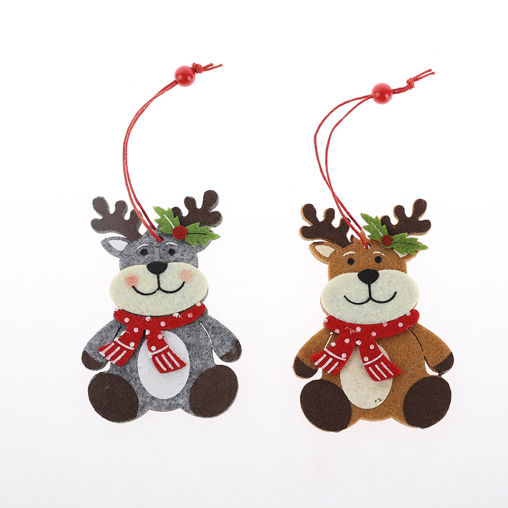 Wholesales christmas tree hanging felt deer shaped hanger festival gift supplier