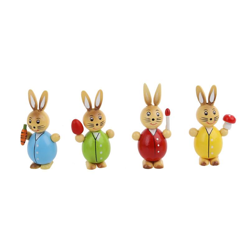 Rabbit sale bunny decor easter decoration wood color Mini animal