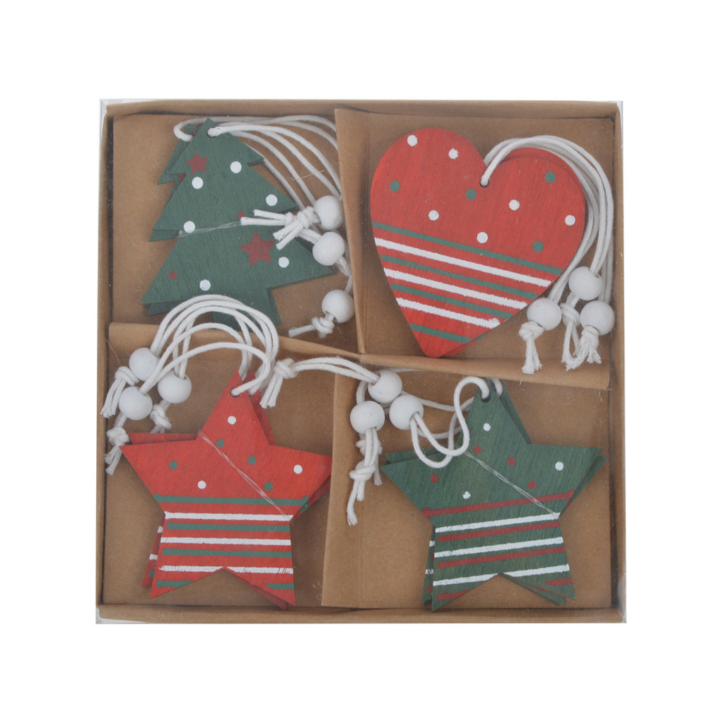 wooden tree heart star shaped festival hanging gift tags traditional gift packaging