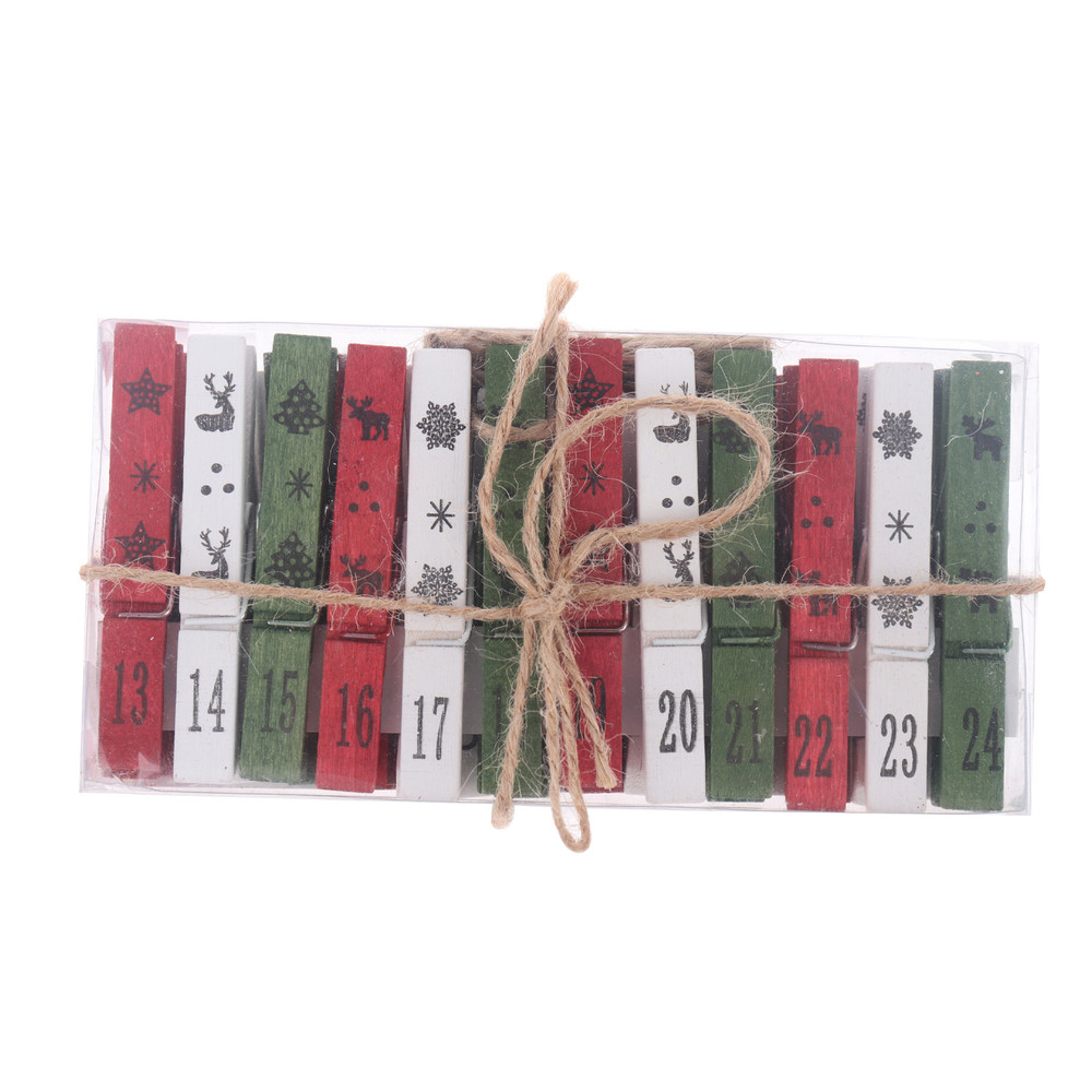 christmas card holder kits pegs twine Xmas hanging decoration traditional gift packaging