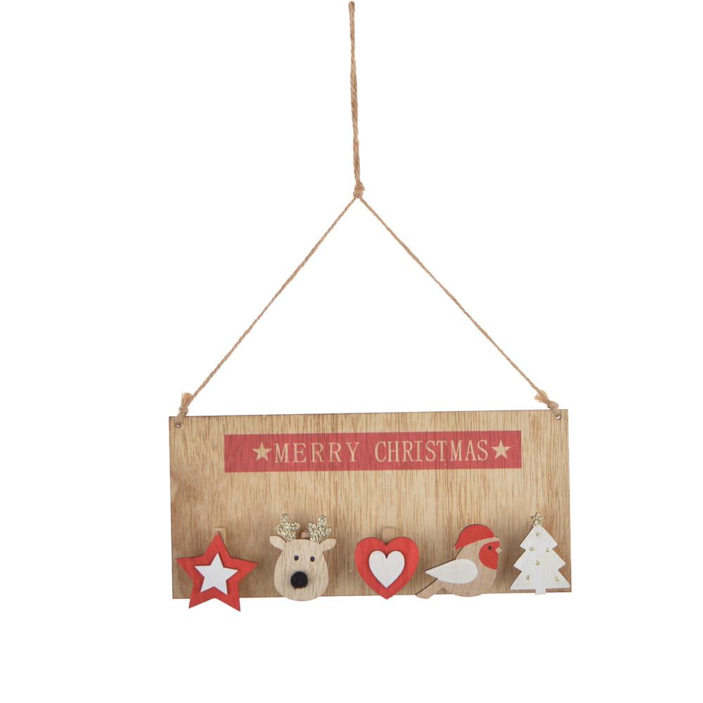 door welcome merry christmas sign wooden  hanger