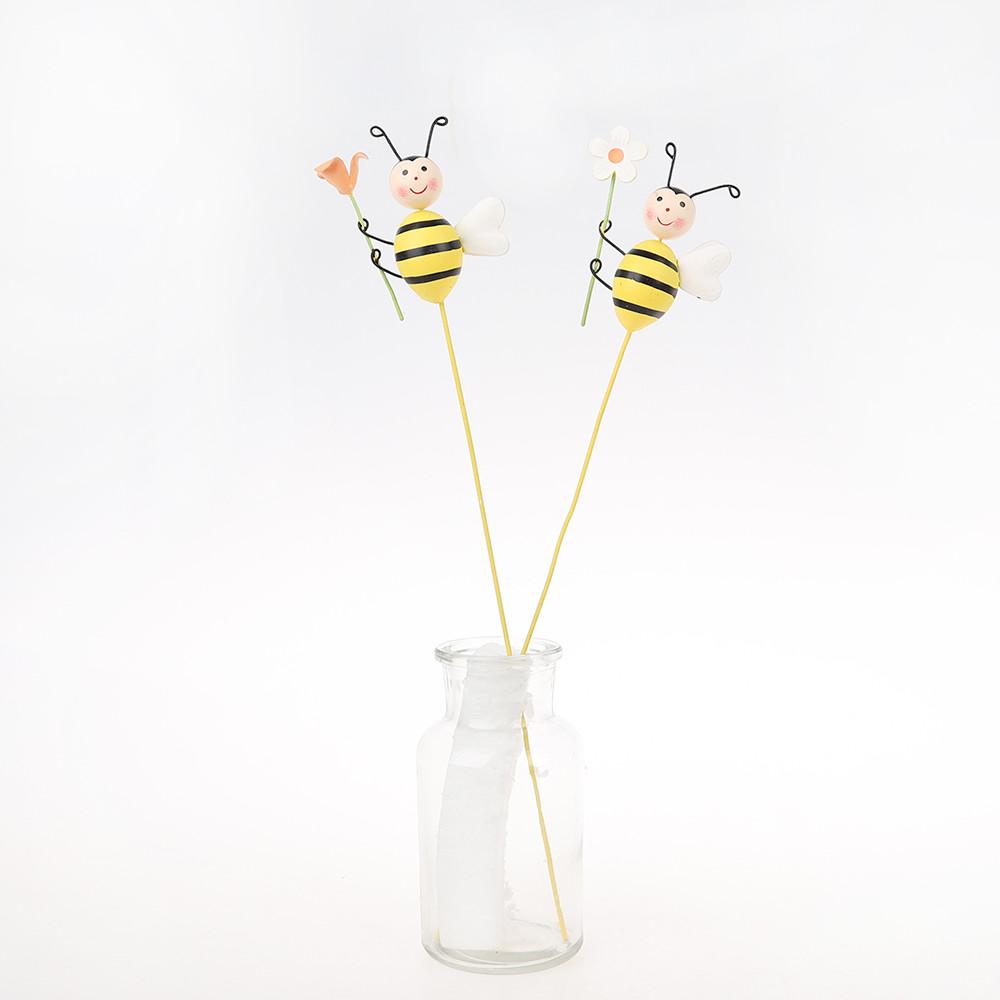 Wholesale Spring Easter Bee with Flower Picks Handiwork Craft Sticks Supplies