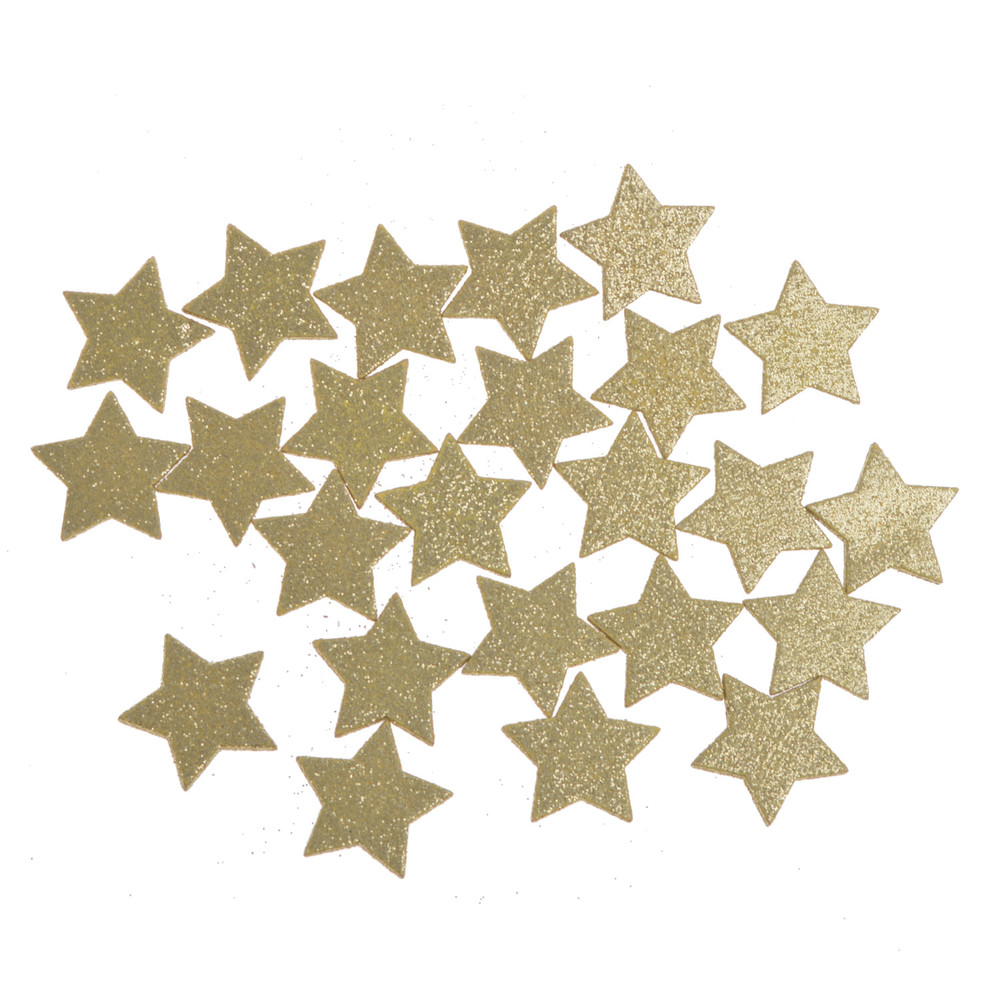 wooden star shaped scatter for wedding, christmas and celebration